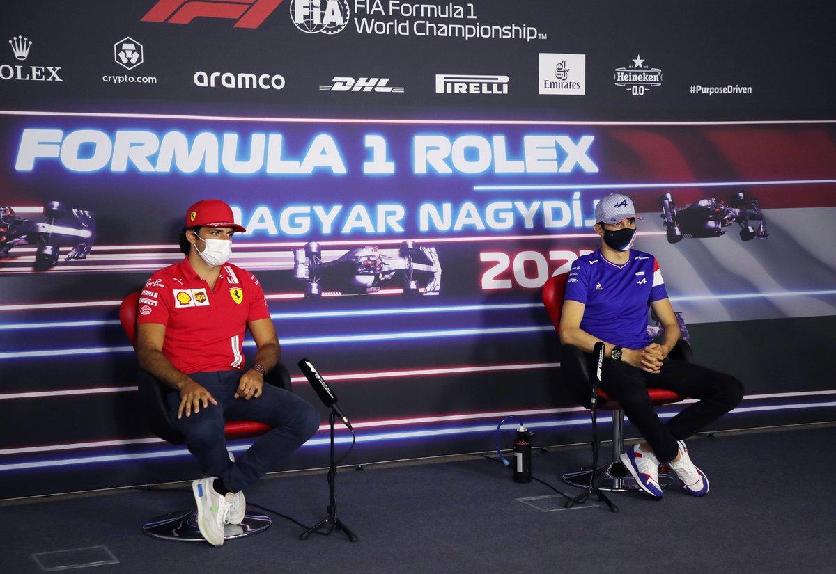 Carlos Sainz Jr., Ferrari Esteban Ocon, Alpine F1