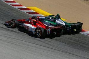 Marcus Ericsson, Chip Ganassi Racing Honda, Callum Ilott, Juncos Hollinger Racing Chevrolet