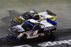 John Hunter Nemechek, Kyle Busch Motorsports, Toyota Tundra Mobil 1, Grant Enfinger, ThorSport Racing, Toyota Tundra Champion/Curb Records