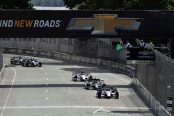 Graham Rahal, Rahal Letterman Lanigan Racing Honda, Josef Newgarden, Team Penske Chevrolet, Will Pow