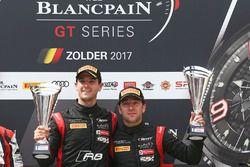 Podium: winners #17 Team WRT Audi R8 LMS: Stuart Leonard, Robin Frijns