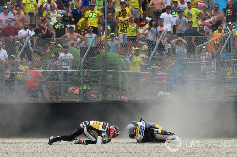 Crash Danny Kent, CarXpert Interwetten, accidente