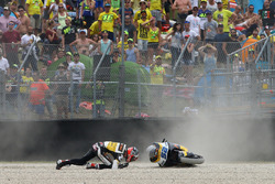 Crash Danny Kent, CarXpert Interwetten, crash