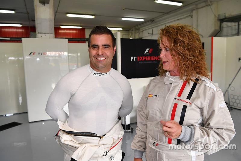 Zsolt Baumgartner, F1 Experiences 2-Seater driver and F1 Experiences 2-Seater passenger Belinda Whiteside