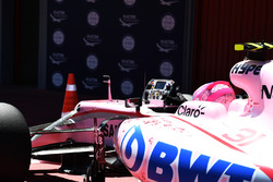 Esteban Ocon, Sahara Force India F1 en parc ferme