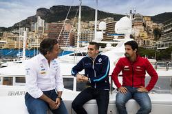 Alejandro Agag, Formula E CEO, CEO, Formula E Holdings. with Sébastien Buemi, Renault e.Dams, Lucas di Grassi, ABT Schaeffler Audi Sport