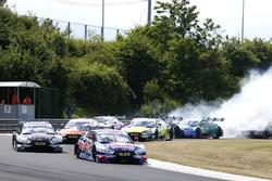 Restart after Safety car, Mattias Ekström, Audi Sport Team Abt Sportsline, Audi A5 DTM leads