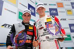 Rookie Podium: Joey Mawson, Van Amersfoort Racing, Dallara F317 - Mercedes-Benz and Mick Schumacher,
