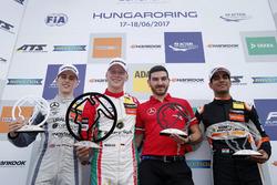 Podium: 1. Maximilian Günther, Prema Powerteam Dallara F317 - Mercedes-Benz; 2. Jake Hughes, Hitech