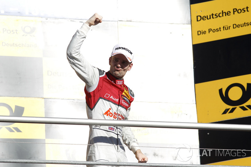 Podio: Ganador de la carrera Jamie Green, Audi Sport Team Rosberg, Audi RS 5 DTM