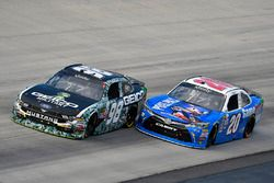 Casey Mears, Biagi-DenBeste Racing Ford and Erik Jones, Joe Gibbs Racing Toyota