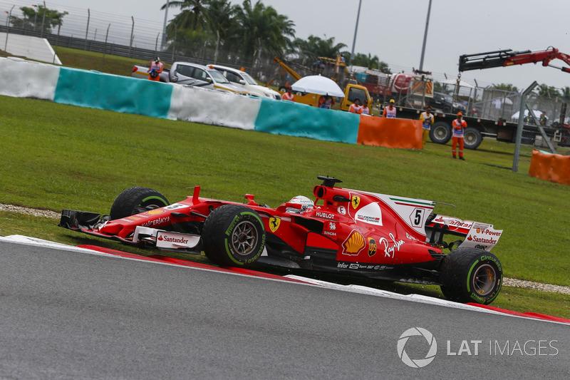 Sebastian Vettel, Ferrari SF70H, va largo