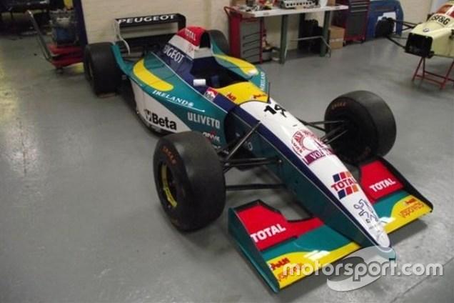 Com esta Jordan 195/04, à venda por pouco mais de 400 mil reais, Rubens Barrichello conquistou o segundo lugar do GP do Canadá de 1995