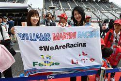 Williams fans en een spandoek