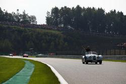 Kevin Magnussen, Haas F1 Team, lors de la parade des pilotes