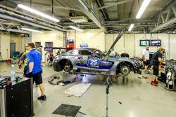 #25 HTP Motorsport Mercedes AMG GT3: Wim de Pundert, Bernd Schneider, Carsten Tilke, Alexander Hrachowina at the garage