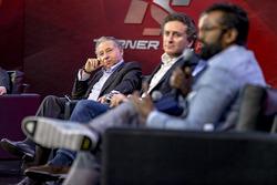 Jean Todt, FIA Başkanı, Alejandro Agag, Formula E CEO, Zak Brown, Motorsport Network Direktörü ve Av