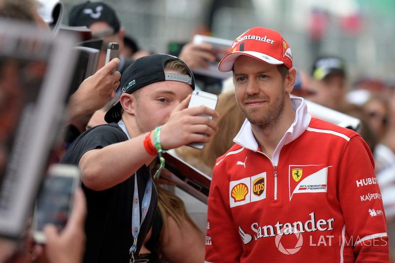 Sebastian Vettel, Ferrari meets the fans at the autograph session