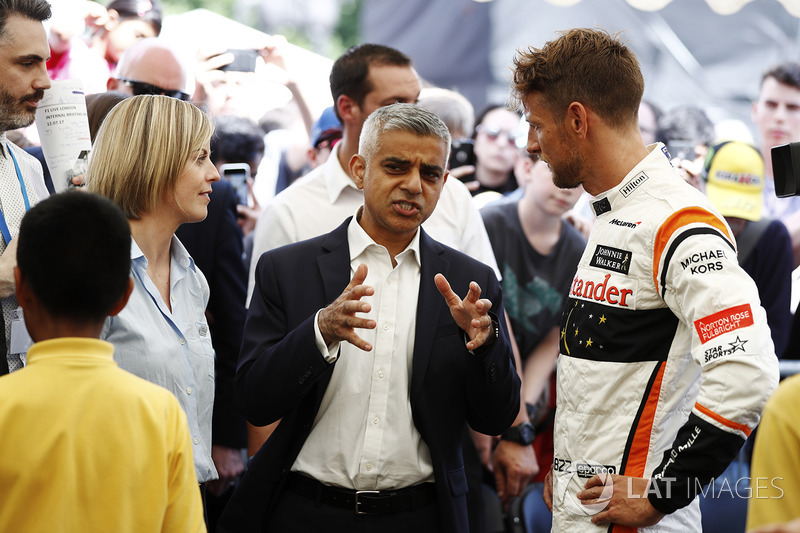 Susie Wolff, Channel 4 F1, Sadiq Khan, Wali kota London, Jenson Button, McLaren
