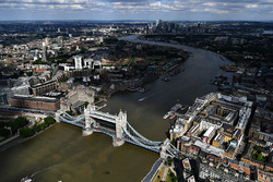 An aerial view of F1 Live London
