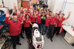 Francesco Bagnaia with the Mahindra Racing team