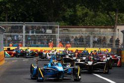 Sébastien Buemi, Renault e.Dams, leads Jean-Eric Vergne, Techeetah, at the start of the race