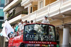 Drivers parade bus