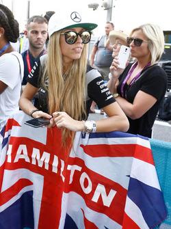 Une fan de Lewis Hamilton, Mercedes AMG F1
