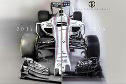 Williams F1 2016 & 2017 araç karşılaştırması