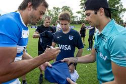 Rugby player Juan Martín Hernández with Nelson Piquet Jr., NEXTEV TCR Formula E Team and Antonio Fel