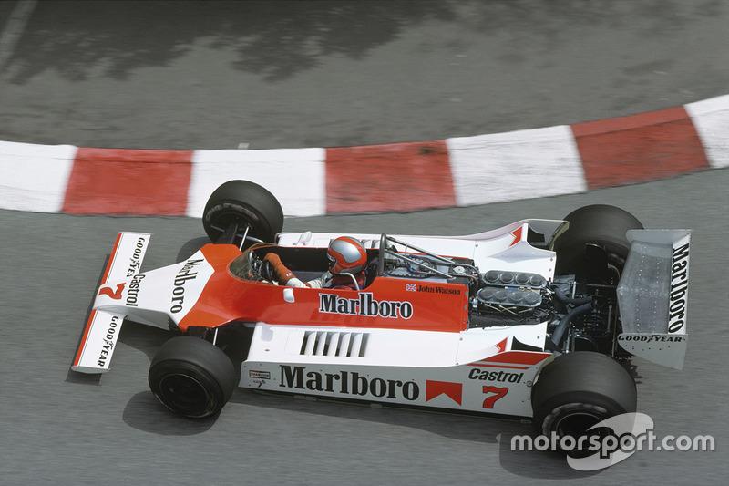 Джон Уотсон, McLaren M29C Ford, на Гран При Монако 1980 года