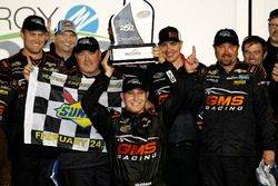 Race winner Kaz Grala, GMS Racing Chevrolet in Victory lane