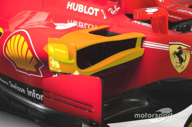 Ferrari SF70H sidepod detalle