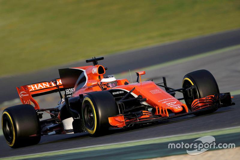 17: Stoffel Vandoorne, McLaren MCL32, 1:22.576, ultrasofts, day 4 (107 laps)