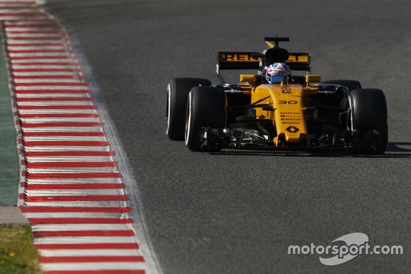 6: Jolyon Palmer, Renault RS17, 1:21.396, softs, day 3 (143 laps)