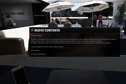 Firma de contrato con McLaren