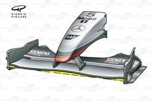 McLaren MP4-17D 2003 Monza front wing
