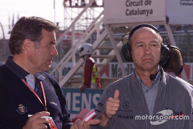 Giorgio Piola con Jo Ramírez, McLaren