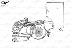 McLaren MP4-17 gearbox, suspension and brake assembly