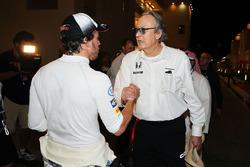 Fernando Alonso, McLaren avec Mansour Ojjeh, actionnaire de McLaren