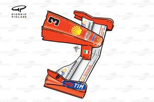 Ferrari F1-2000 (651) 2000 Monza front wing
