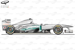 Mercedes W02 side view, Australian GP