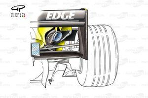 Jordan EJ14 2004 exhaust detail