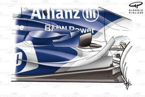 Williams FW26 2004 revised sidepod flicks