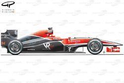 Virgin Racing VR-01 side view