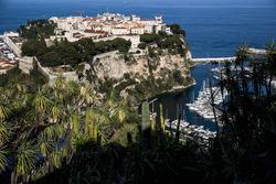 A view of Le Palais des Princes de Monaco and Port de Fontvieille