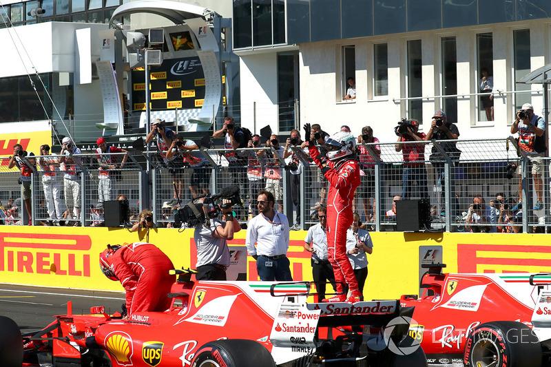 Ganador de la pole Sebastian Vettel, Ferrari SF70-H