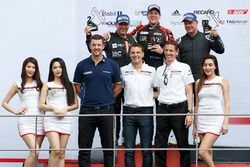TAG Heuer Carrera Challenge podium: Tim Miles, Stephen Grove and Dean Cook