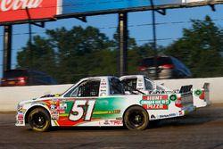 Harrison Burton, Kyle Busch Motorsports Toyota, JJ Yeley, Chevrolet, Justin Haley, GMS Racing Chevro
