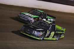 Austin Cindric, Brad Keselowski Racing Ford y John Hunter Nemechek, SWM-NEMCO Motorsports Chevrolet